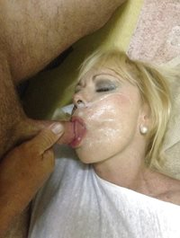 my creamy load all over her face